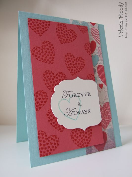 Hearts a Flutter - Stamping With Val. X