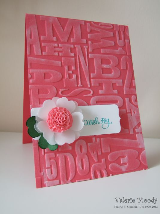Ruffled Ribbon Flower- Stamping With Val. X