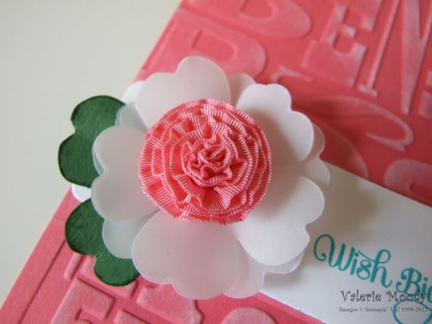 Ruffled Ribbon Flower - Stamping With Val. X