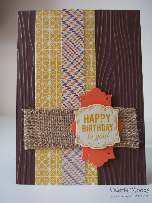 Sweater Weather Men's Card - Stamping with Val - Valerie Moody, Independent Stampin' Up! Demonstrator