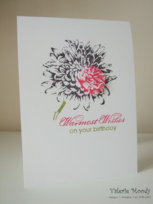 Stampin' Up! Blooming With Kindness Spotlighting Technique Stamping With Val. X