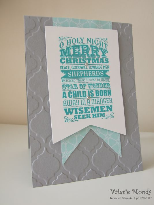 Stampin' Up! O Holy Night Christmas Card - Stamping With Val. X
