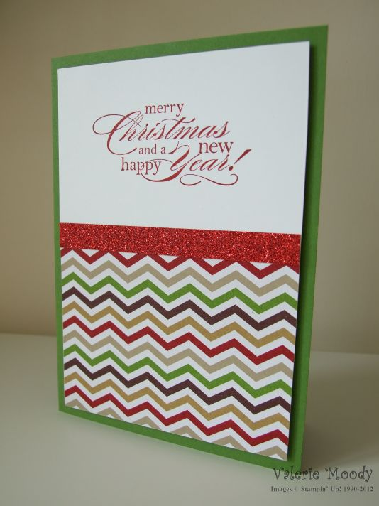 Stampin' Up! Quick Christmas Card - Stamping with Val. X