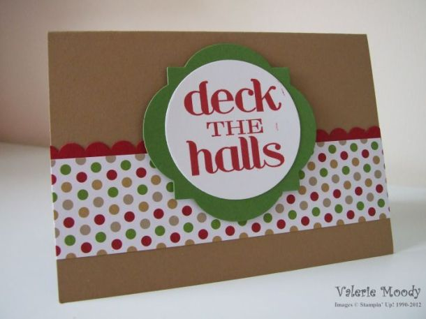 Stampin' Up! - Deck The Halls - Stamping with Val. X