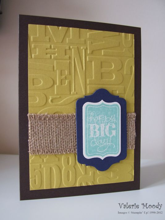 Stampin' Up! Chalk Talk - Men's Birthday - Stamping With Val. X