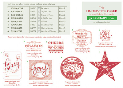 Stampin' Up! Christmas Stamps - Stamping with Val. X