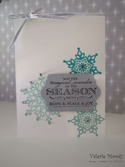Stampin' Up! - Festive Flurry - Magical Season - Stamping With Val - Valerie Moody- Independent Stampin' Up! Demonstrator. X