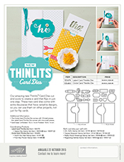 Stampin' Up! Thinlits Flyer