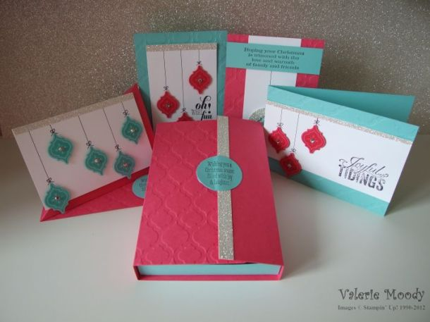 Stampin' Up - Mosiac Madness Christmas Gift Set - Just 4 Demo's - Valerie Moody. X