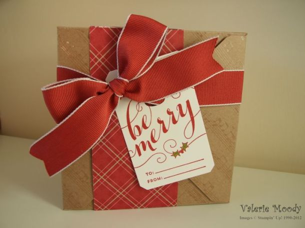 Envelope Punch Board Gift Box - I love box making - come and check out what else I've made - Stamping With Val - Valerie Moody, Independent Stampin' Up! Demonstrator. X