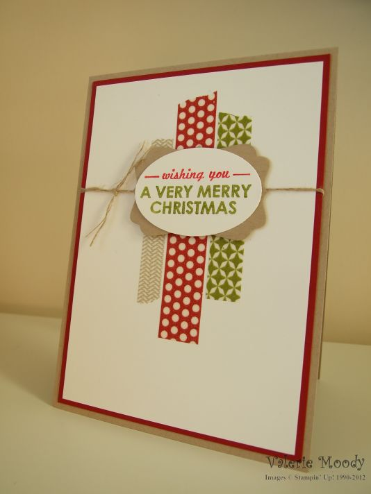 Wishing You a Washi Christmas - Stamping With Val - Valerie Moody, Independent Stampin' Up! Demonstrator. X