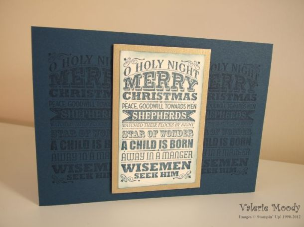 Stampin' Up! Oh Holy Night - Stamping With Val - Valerie Moody - Independent Stampin' Up! Demonstrator. X