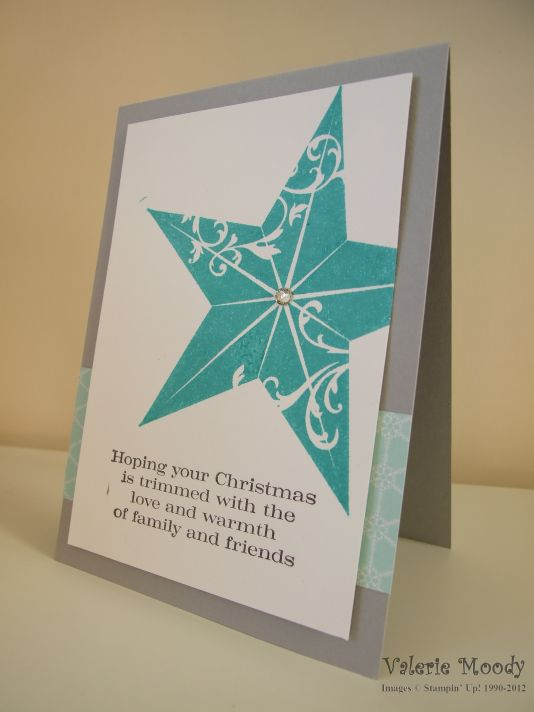 Stampin' Up! Christmas Star - Stamping With Val - Valerie Moody - Independent Stampin' Up! Demonstrator. X