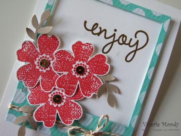 Stampin' Up! On Film Framelits - Flower Shop - Gold Sequin Trim - Stamping With Val - Valerie Moody; Independent Stampin' Up! Demonstrator. X