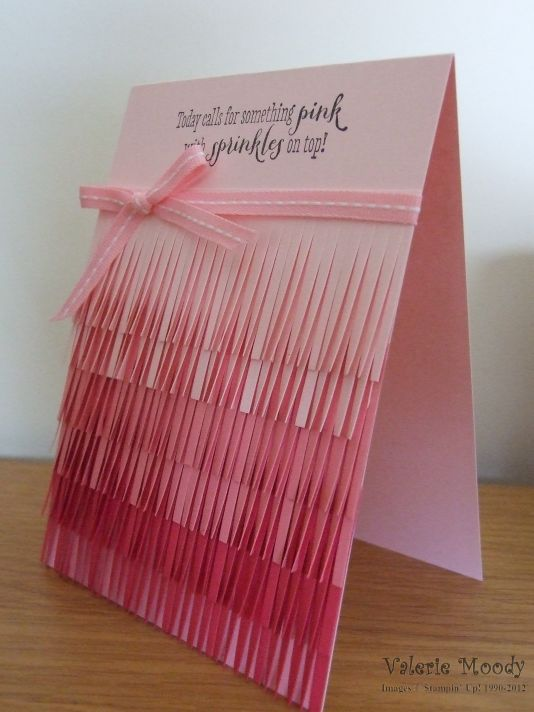 Stampin' Up! - Ombre Fringing - Fringe Scissors - Stamping With Val - Valerie Moody; Indepedent Stampin' Up! Demonstrator. X