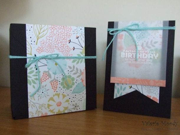 Stampin' Up! - Sweet Sorbet DSP - Envelope Punch Board - Box - See Ya Later - Stamping With Val - Valerie Moody; Independent Stampin' Up! Demonstrator. X