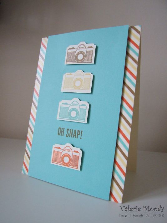 Stampin' Up! - Peachy Keen - On Film Framelits- Oh Snap - Stamping With Val - Valerie Moody; Independent Stampin' Up! Demonstrator. X