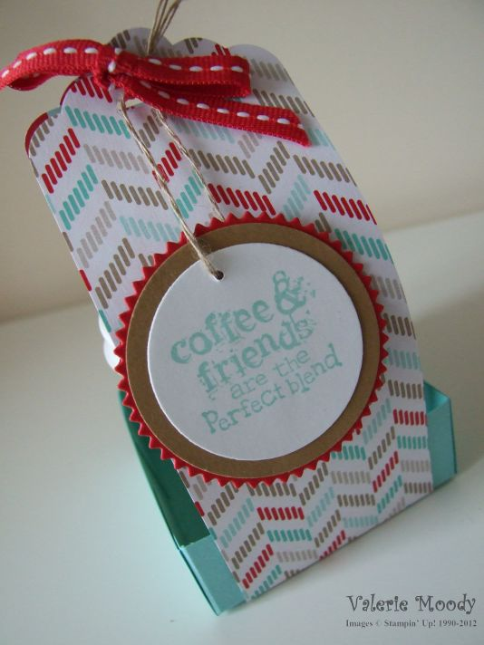 Stampin' Up! - Perfect Blend - Scallop Tag Topper Punch - Stamping With Val - Valerie Moody; Independent Stampin' Up! Demonstrator. X