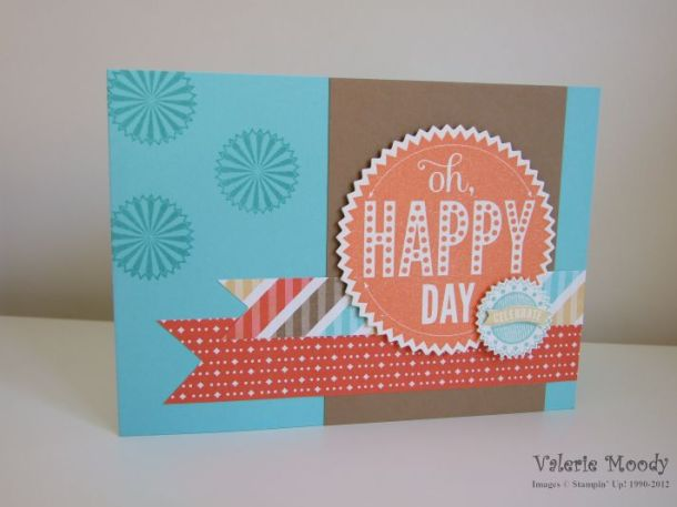 Stampin' Up! - Starburst Sayings - Retro Fresh - Stamping With Val - Valerie Moody; Independent Stampin' Up! Demonstrator. X