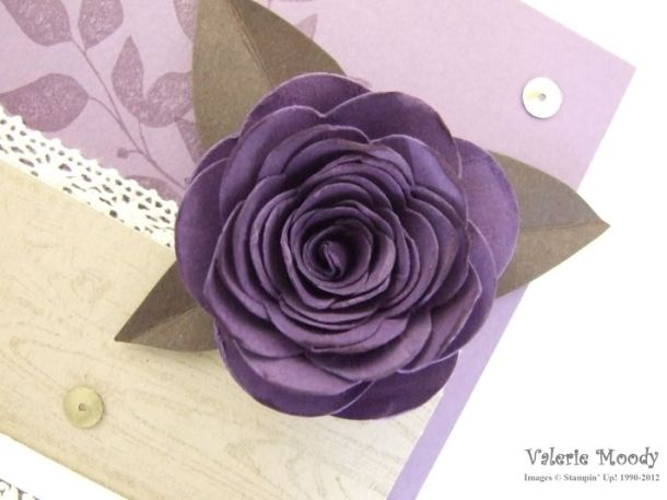Stampin' Up! - Anniversary Card - Loving Thoughts - Stamping With Val - Valerie Moody; Independent UK Stampin' Up! Demonstrator. X