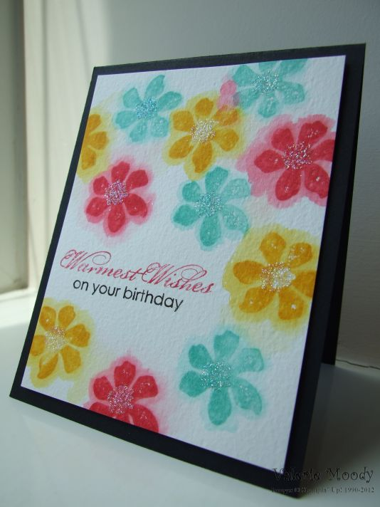 Stampin' Up! - Watercolour Fun - Summer Silhouettes - Stamping With Val - Valerie Moody; Indepedent Stampin' Up! Demonstrator. X