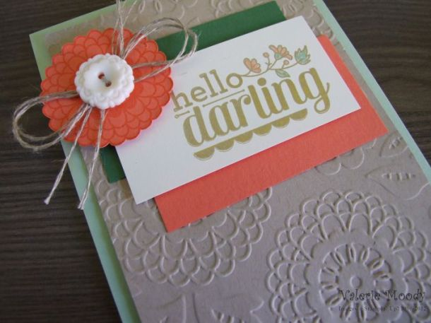Stampin' Up! - Hello Darling - Lovely Lace - Stamping With Val - Valerie Moody; Independent Stampin' Up! Demonstrator. X