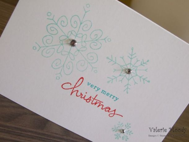 Stampin' Up! - Endless Wishes - Christmas Card - Quick Card - Stamping With Val - Valerie Moody; Independent Stampin' Up! Demonstrator. X