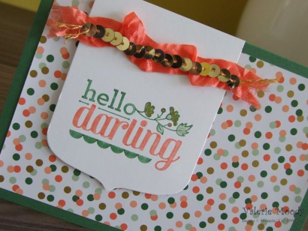 Stampin' Up! - Hello Darling - All Abloom - Stamping With Val - Valerie Moody; Independent Stampin' Up! Demonstrator. X