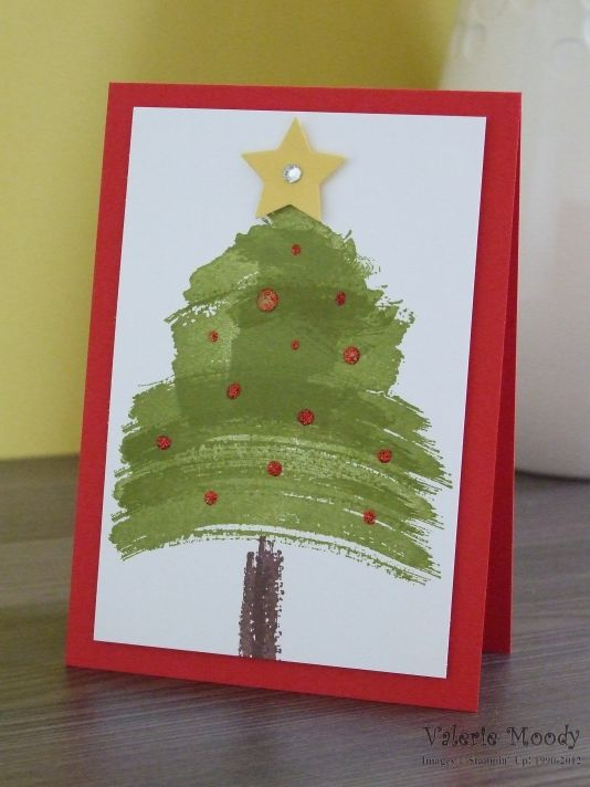 Stampin' Up! - Work Of Art - Quick Cards - Christmas Cards - Stamping With Val - Valerie Moody; Independent Stampin' Up! Demonstrator. X
