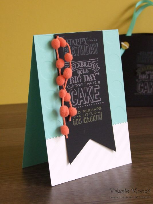 Stampin' Up! - Chalkboard - Sale-a-bration - Occasions Catalogue - Big Day SAB - Stamping With Val - Valerie Moody; Independent Stampin' Up! Demonstrator. X