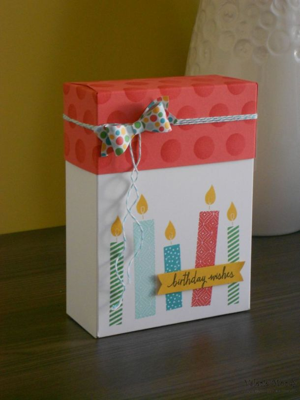 Stampin' Up! - Using the Gift Bag Punch Board #8 - Making Lidded Boxes - Stampin' Up! 2015 Annual Catalogue - Stamping With Val - Valerie Moody; Independent Stampin' Up! Demonstrator. X