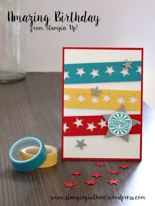 Amazing Birthday Card - Stamping With Val - Stampin' Up!
