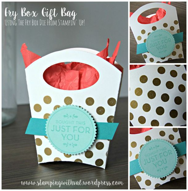 Stampin' Up! - Fry Box Gift Bag - Video Tutorial - Homemade For You - Stamping With Val - Valerie Moody; Independent UK Stampin' Up! Demonstrator. X