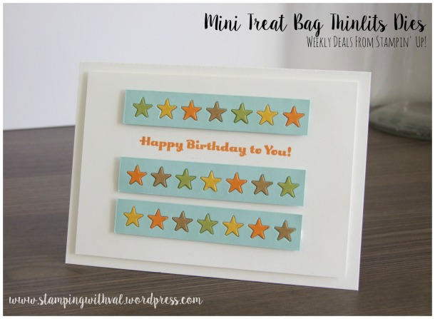 Stampin' Up! - Mini Treat Bag Thinlit Dies - Weekly Deals - Stamping With Val - Valerie Moody; Independent UK Stampin' Up! Demonstrator. X