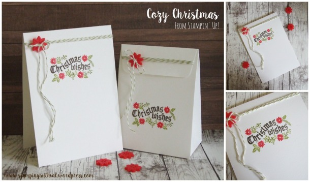 Stampin' Up! - Cozy Christmas - Quick Christmas Card - Stamping With Val - Valerie Moody; Independent Stampin' Up! Demonstrator. X