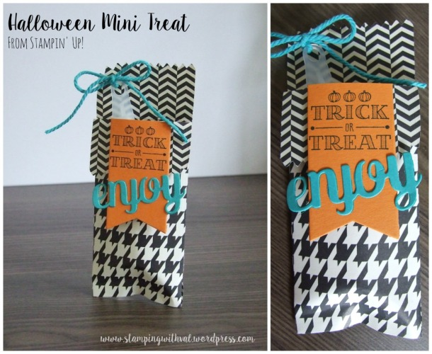 Stampin' Up! - Halloween Mini Treat - Stamping With Val - Valerie Moody; Independent Stampin' Up! Demonstrator.X