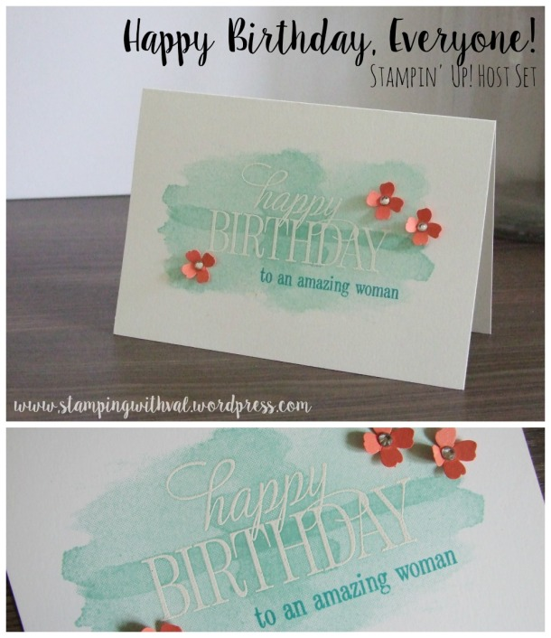 Stampin' Up! - Happy Birthday Everyone - Perpetual Calendar- Stamping With Val - Valerie Moody; Independent Stampin' Up! Demonstrator. X