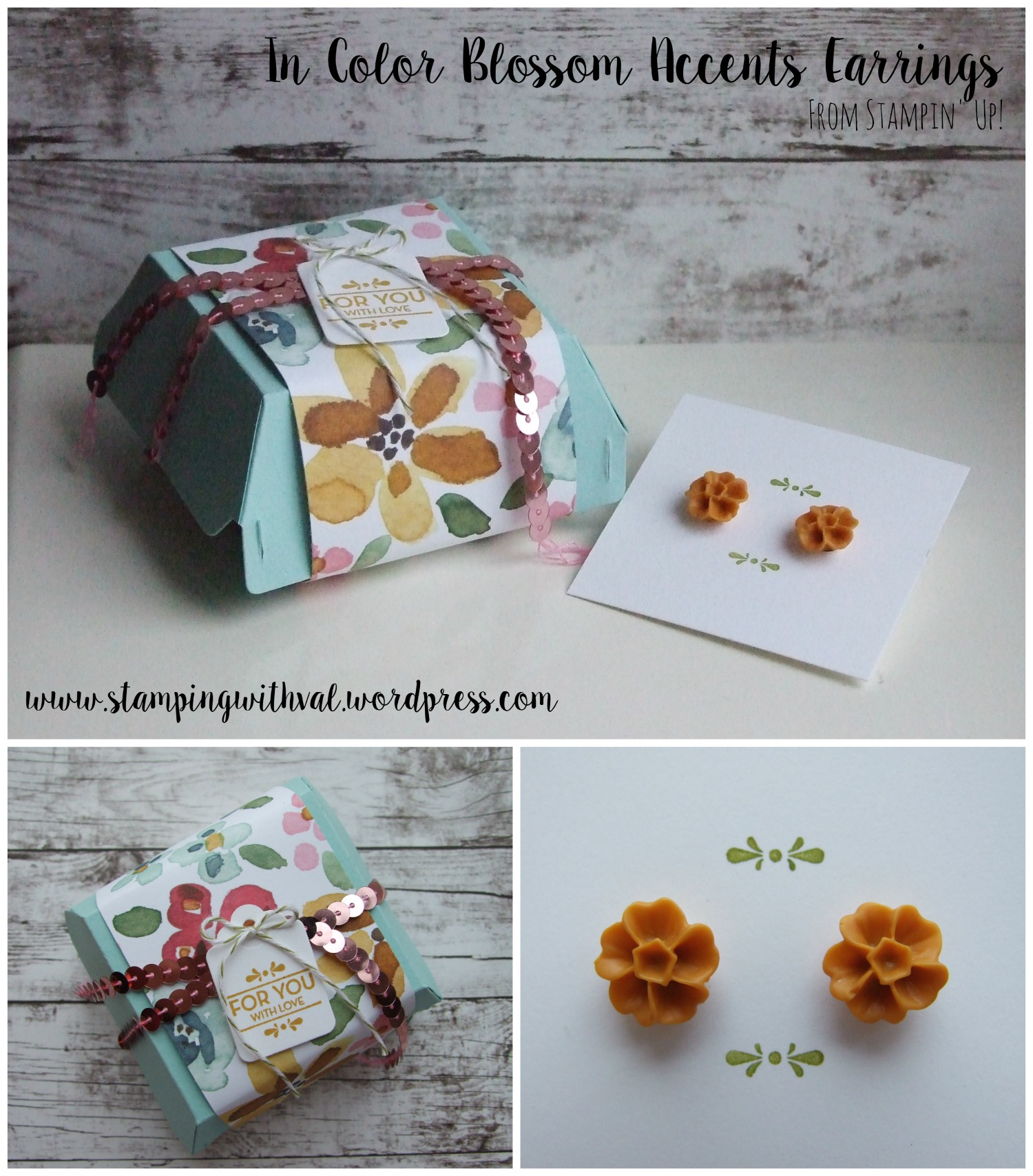 Stampin' Up - In Color Blossom Accents - Hamburger Die - Stamping With Val - Valerie Moody; Independent Stampin' Up! Demonstrator. X