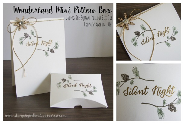 Stampin' Up - Mini Pillow Box Video Tutorial - Stamping With Val - Valerie Moody; Independent Stampin' Up! Demonstrator. X