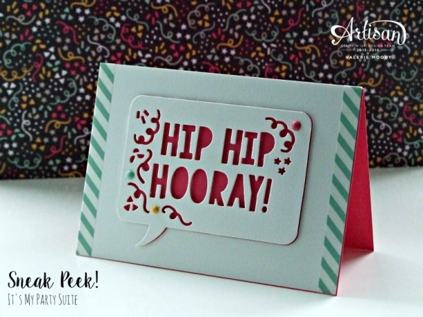 Stampin' Up! - It's My Party Sneak Peek - Stamping With Val. X