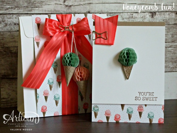 Honeycomb Fun - Artisan Design Team Blog Hop - Stamping With Val - Valerie Moody; Independent Stampin' Up! Demonstrator. X