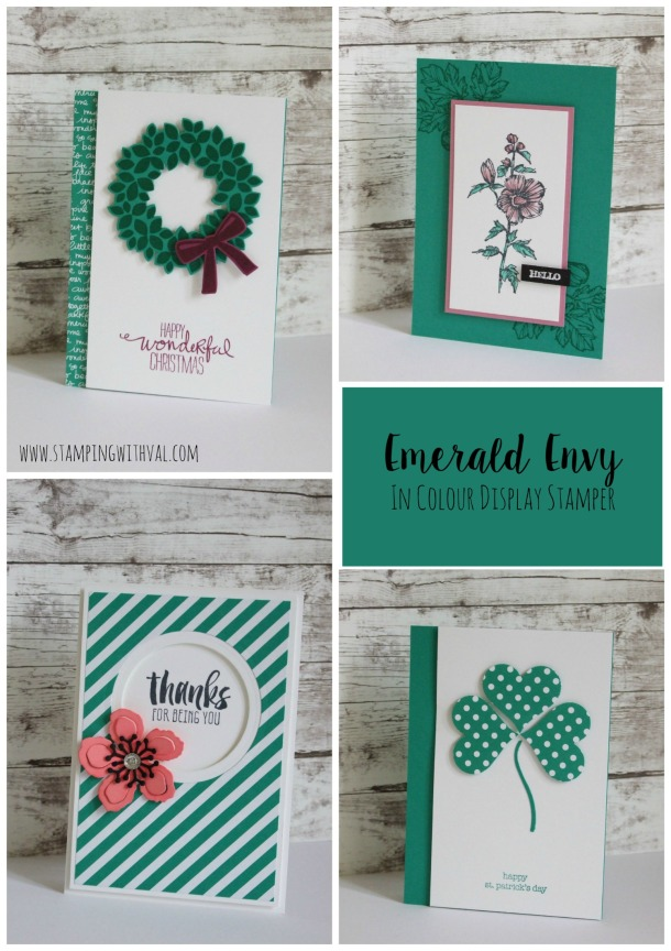 Stampin' Up! - Emerald Envy - Stamping With Val - Val Moody; Independent Stampin' Up! Demonstrator. X