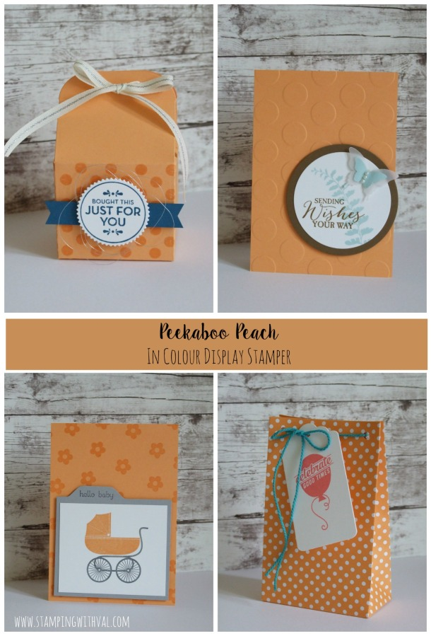 Stampin' Up! - Peekaboo Peach - In Colour 2016-18 - Val Moody; Stamping With Val. X