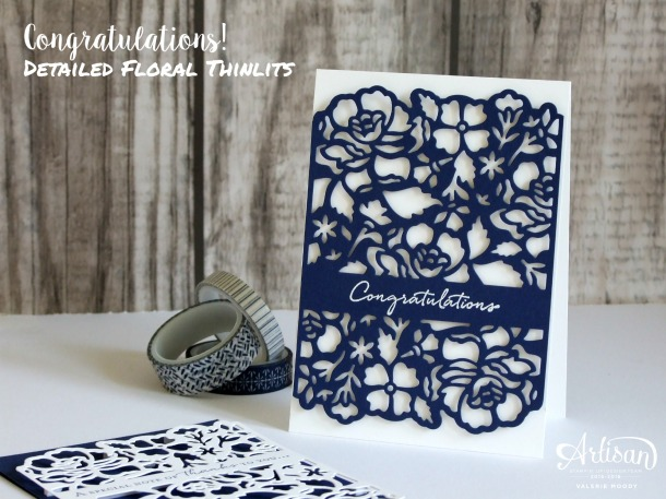 Stampin' Up! - Detailed Floral Thinlits - Valerie Moody - How To Video HERE!