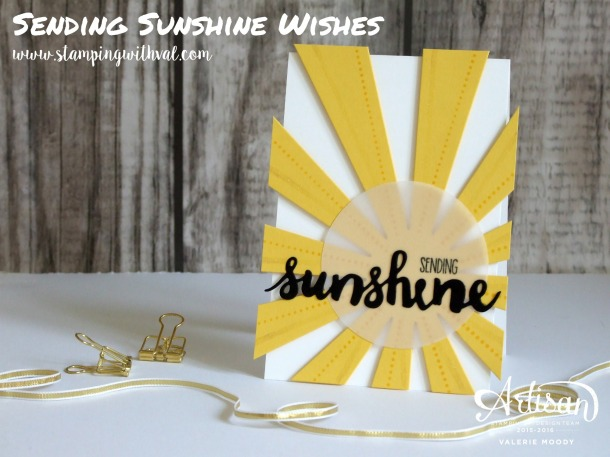 Stampin' Up! - Sending Sunshine Wishes - Valerie Moody; Independent UK Stampin' Up! Demonstrator. X