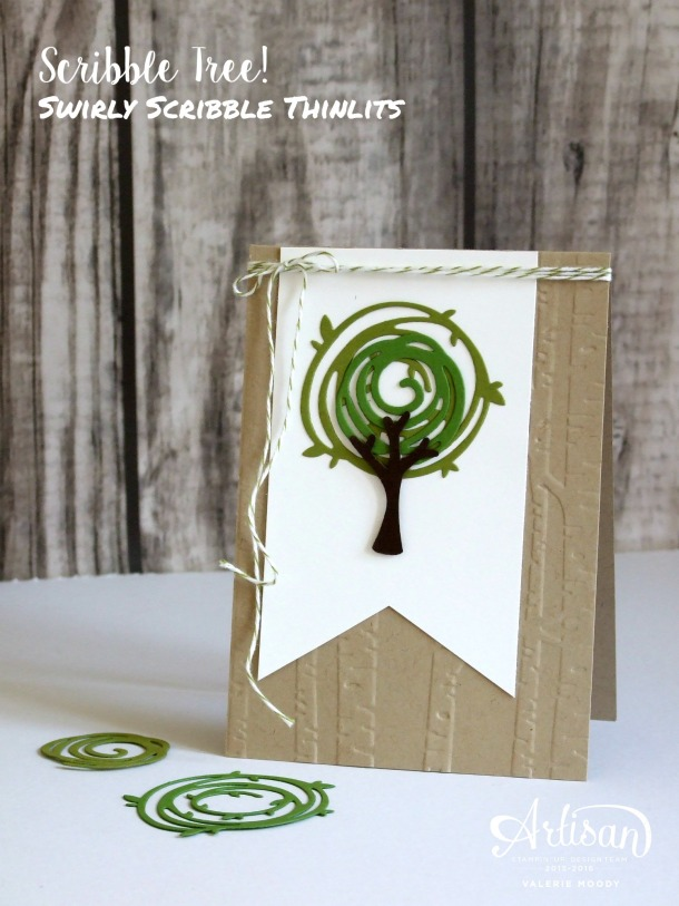 Stampin' Up! - Swirly Scribble Thinlits - Valerie Moody - You can find a how-to Video HERE!