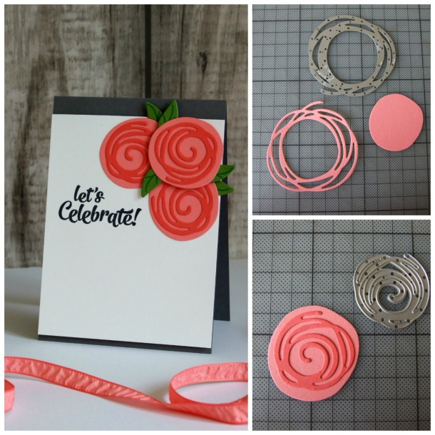 Swirly Scribble Thinlits - Quick Tip - Roses - Valerie Moody; Independent Stampin' Up! UK Demonstrator. X