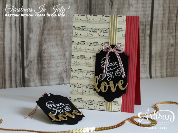 Stampin' Up! - Christmas In July - Peace This Christmas - Artisan Design Team Blog Hop - Valerie Moody. X2
