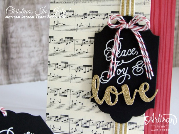 Stampin' Up! - Christmas In July - Peace This Christmas - Artisan Design Team Blog Hop - Valerie Moody. X3