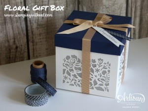 Detailed Floral Gift Box - FREE Tutorial from Stamping With Val. X
